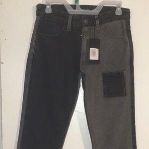 Denim Pants W/ Reverse